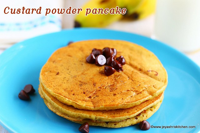 Custard powder pancake