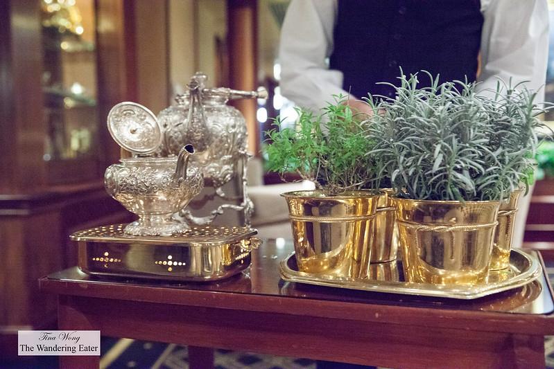 Tea service cart