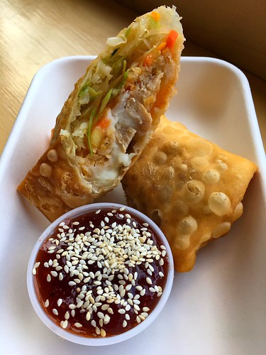 Vegan Thanksgiving eggrolls from Pow Pow