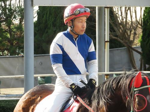 金沢競馬場の葛山晃平騎手。クロ。