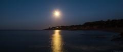 Clair de lune sur la pointe de Chémoulin (Saint Nazaire)