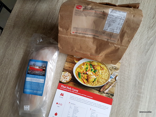 Thai Fish Curry package
