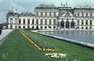 Belvedere Palace given to Prince Eugene. Vienna