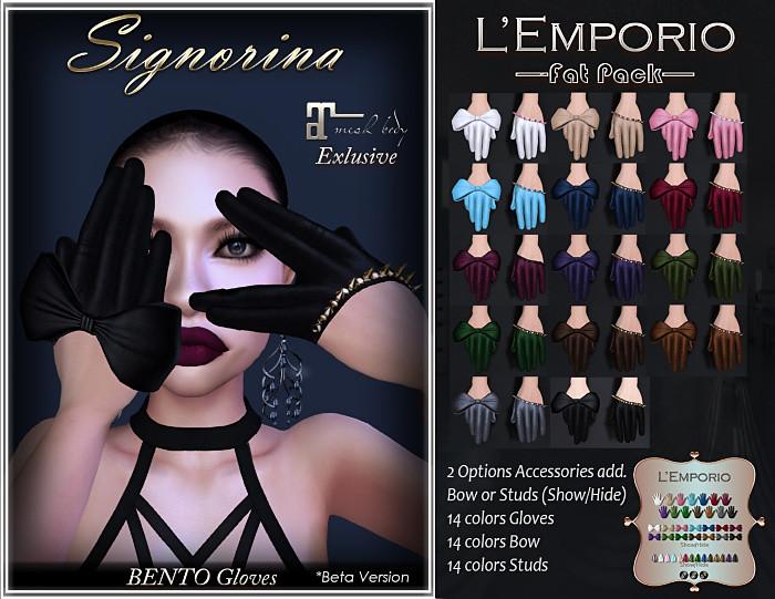 L'Emporio ::*Signorina*:: Maitreya BENTO Gloves