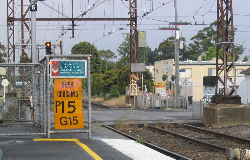 Glenhuntly station train speed restriction, December 2007