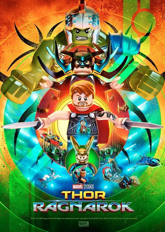 Plakat Lego Thor Ragnarok