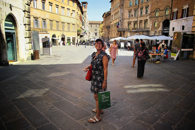 Shopping with a smile in centre of Perugia