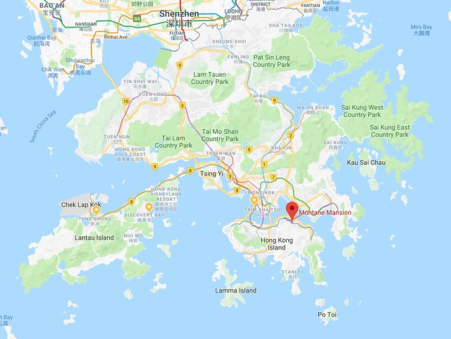 Location of HK Most Instagram Building (Montane Mansion)