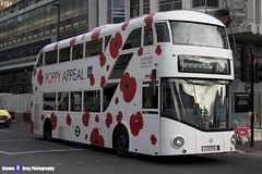 Wrightbus NRM NBFL - LTZ 1174 - LT174 - Poppy Appeal - Hammersmith 10 - RATP Group London United - London 2017 - Steven Gray - IMG_6029