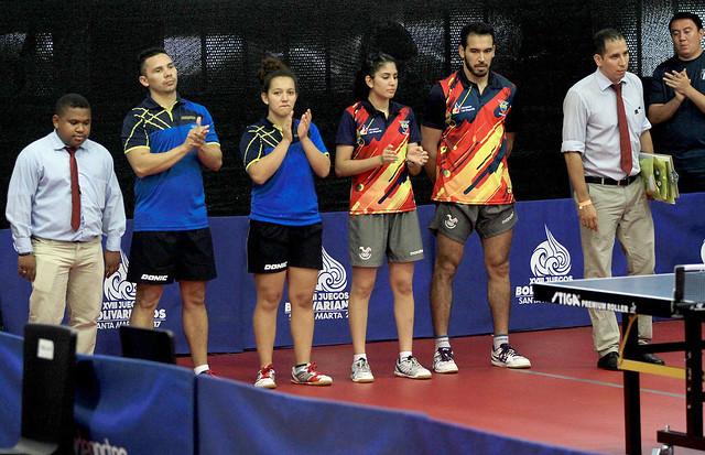 2 bronces en dobles para el tenis de mesa en Bolivarianos