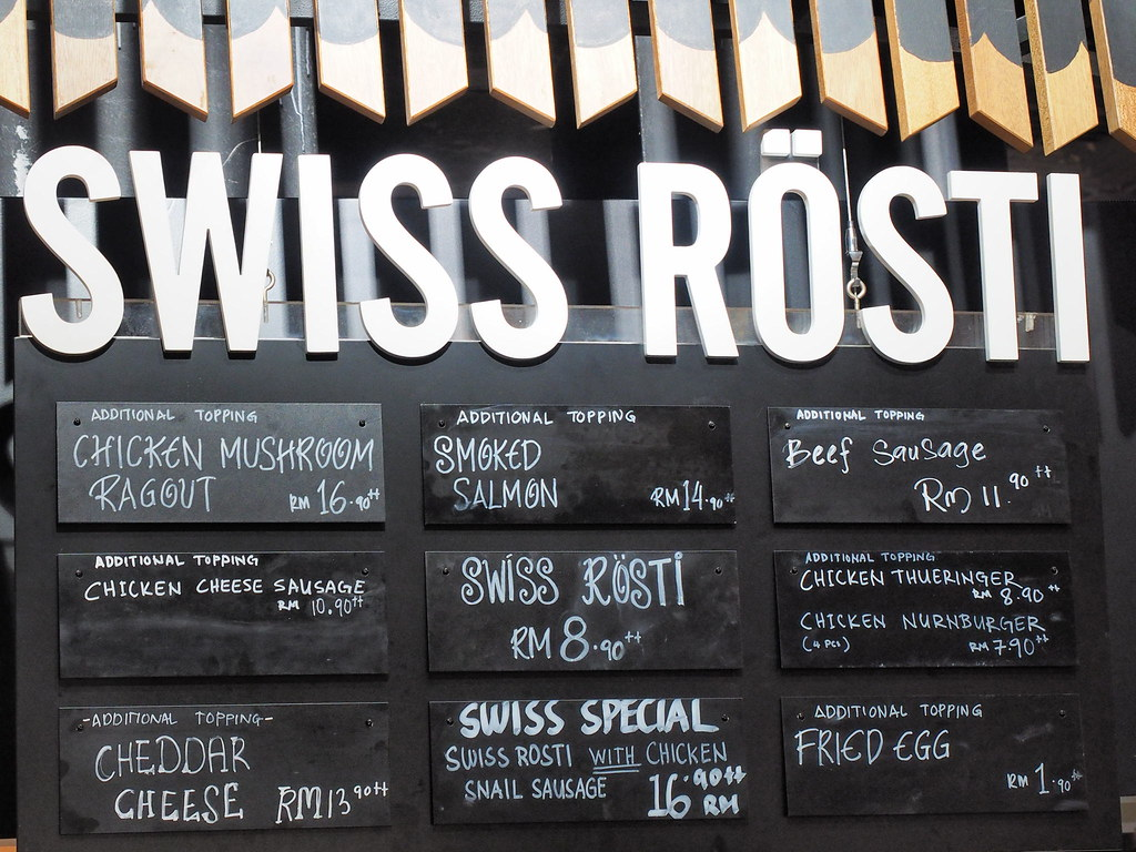 Swiss Rösti food menu at Marché Mövenpick Pavilion