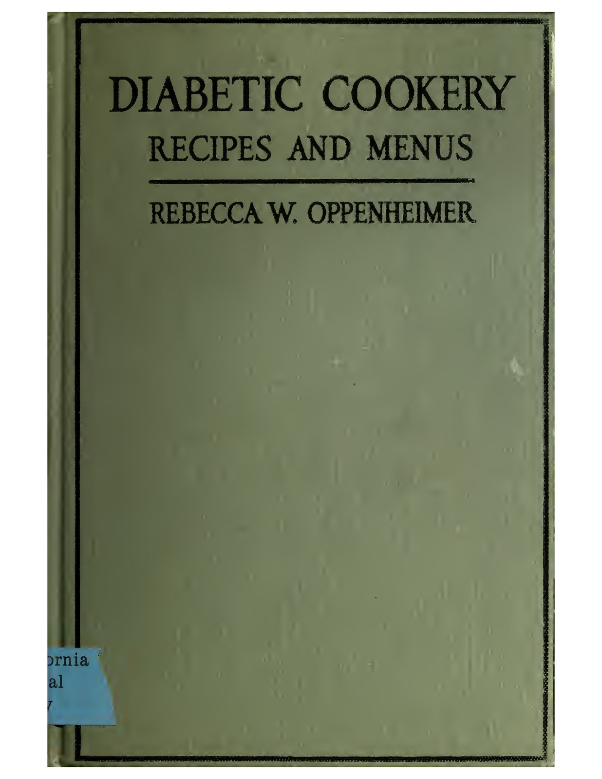2017.11.23 Diabetic Cookery, 1917, via OpenLibrary 183