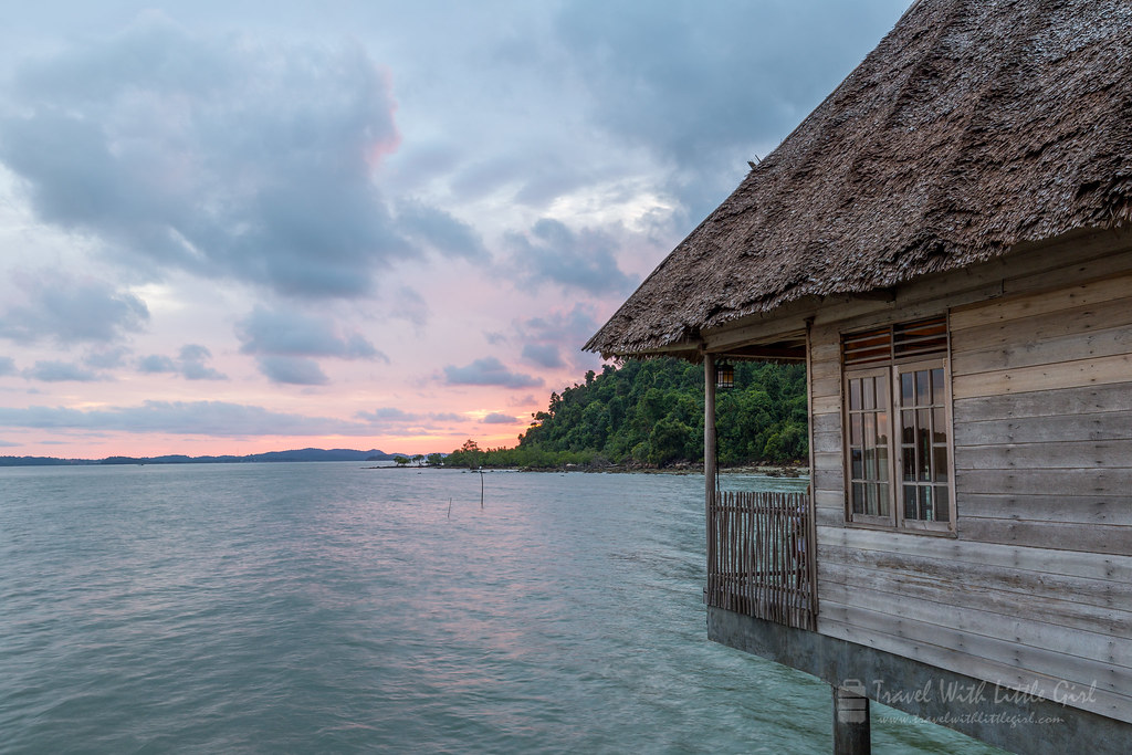 Our room with the sunset at Telunas Beach Resort