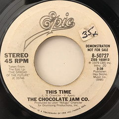 THE CHOCOLATE JAM CO.:THIS TIME(LABEL SIDE-B)