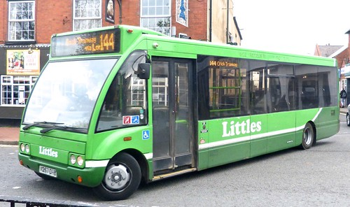 V257 DRB 'Littles', Ilkeston Optare Solo M920 / 1 on 'Dennis Basford's railsroadsrunways.blogspot.co.uk'
