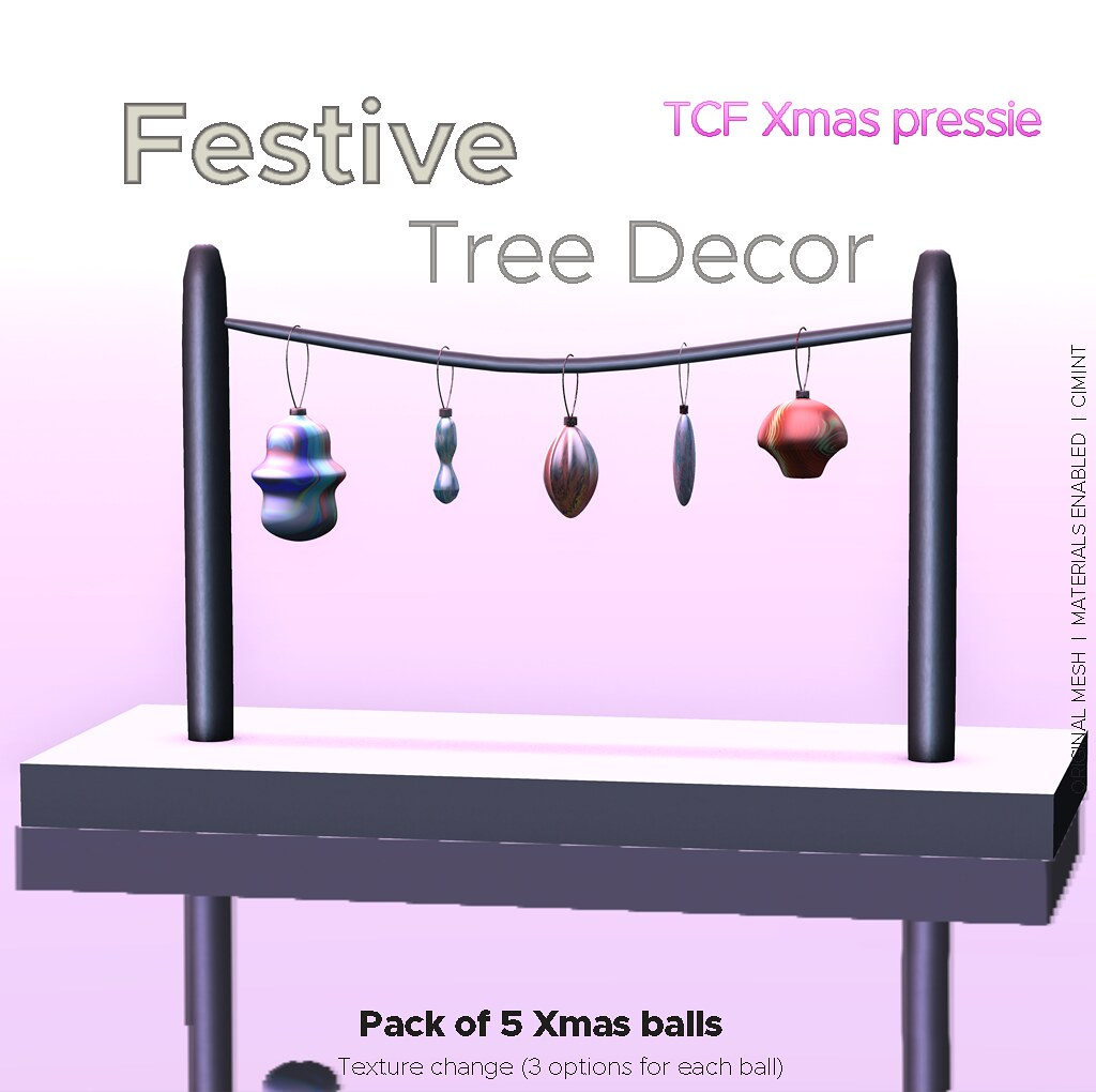 Festive tree decors @ The Chapter Four – Xmas gift !