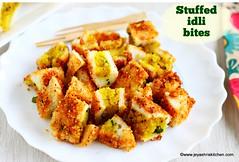 Stuffed idli bites
