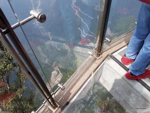 Tianmen Mountain glass path view