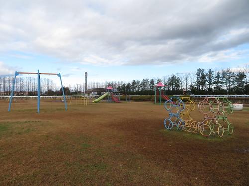 金沢競馬場の内馬場の公園