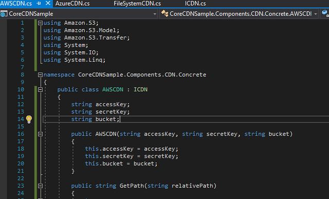 2017-11-12 21_13_39-CoreCDNSample - Microsoft Visual Studio