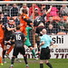 Gary Mackenzie scores for St Mirren to level the game at 1 - 1.  Final score  Dundee United 3 - 2 St Mirren. 22nd April, 2017.