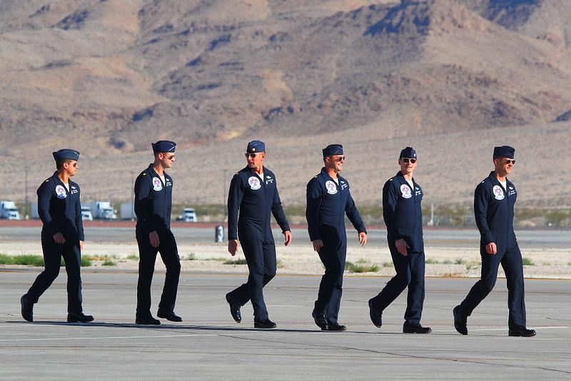 IMG_6693 Thunderbirds Pilots, Nellis AFB