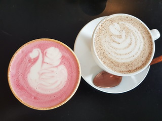 Beetroot Latte and Spiced Chai at Grown