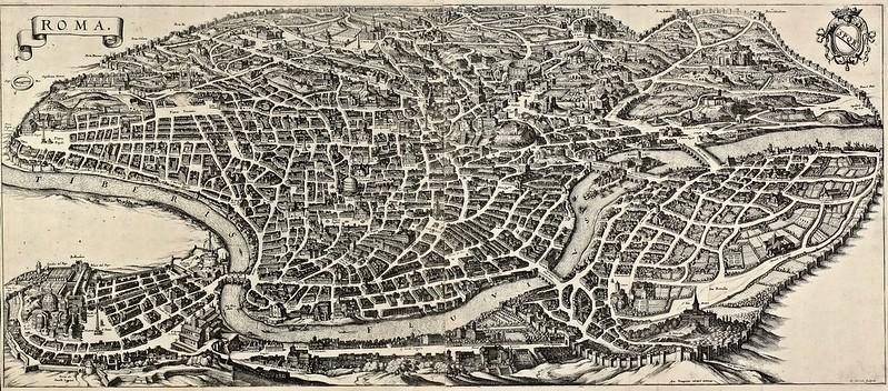 Matthäus Merian (1593-1650) - Antique town view of Roma (1641)