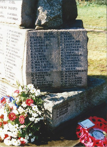 Croxley War memorial on The Green. 1996