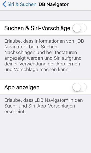 iOS 11.2: Einstellungen / Siri & Suche