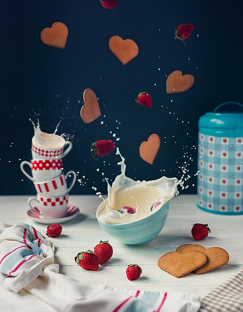 Hearts, Strawberries & Milk