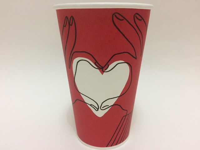 Starbucks Taiwan 星巴克 red cup add own color in heart