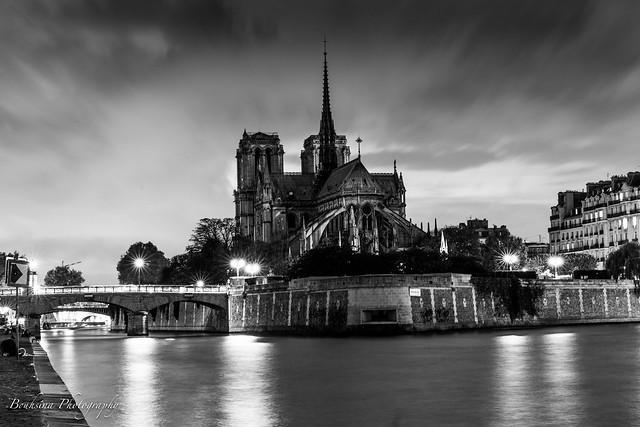 Notre Dame in B&W