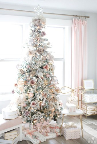 My-Blush-Pink-Flocked-Christmas-Tree-16-694x1024