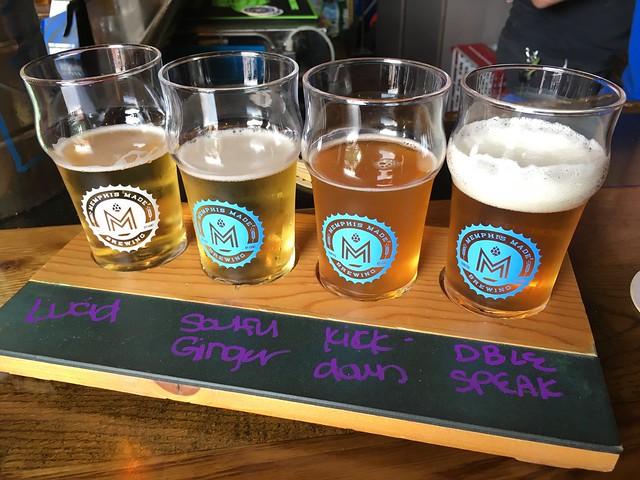 Beer flight - Memphis Made Brewing