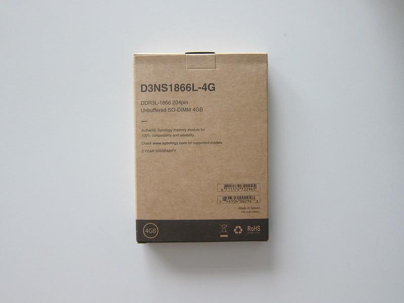 Synology RAM D3NS1866L-4G - Box Back