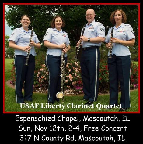USAF Liberty Clarinet Quartet 11-12-17