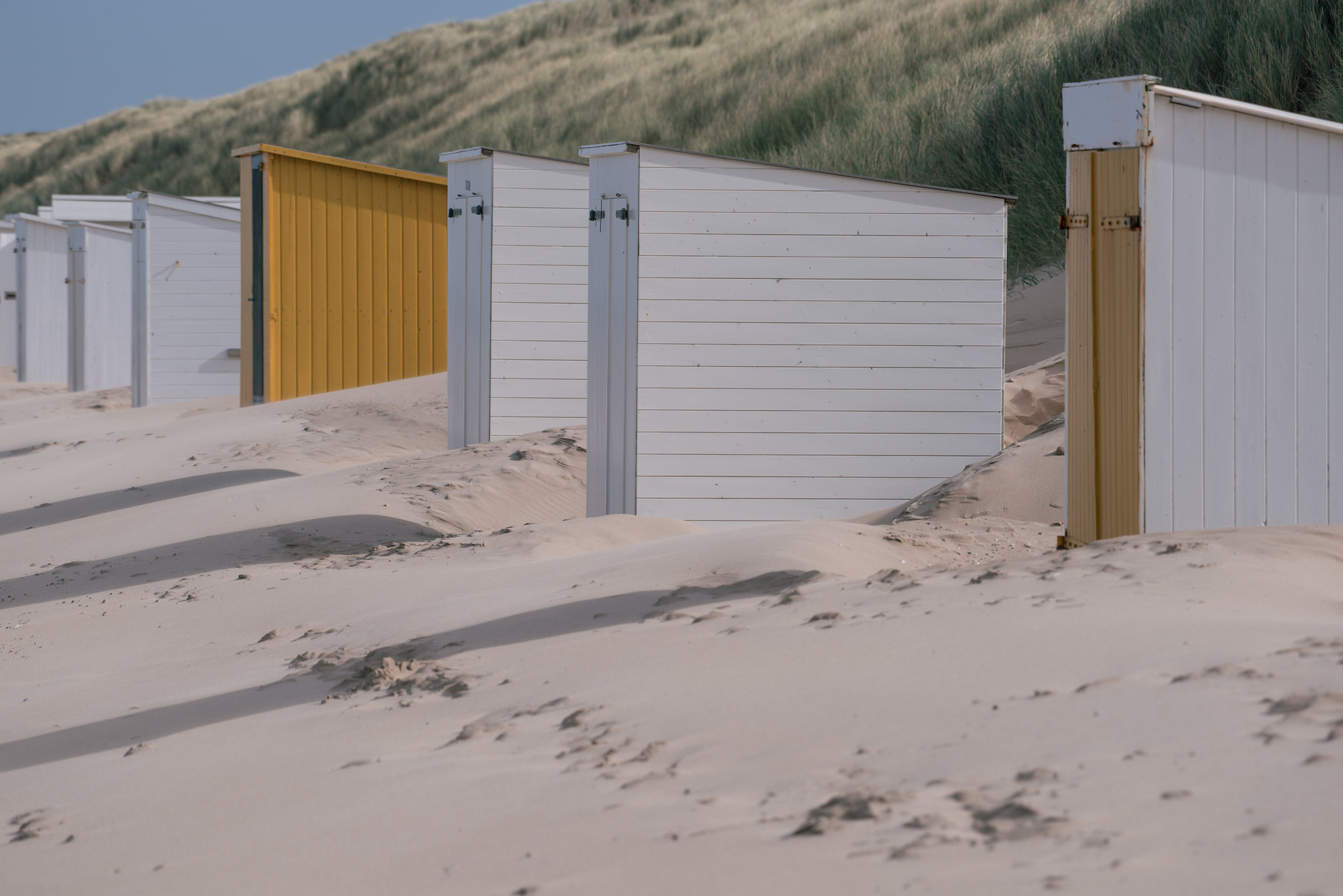 Beach cabins in Zeeland