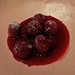 sugared raspberries at Saison