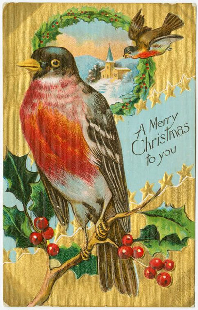 Old Christmas postcard 2 (Courtesy of the NYPL)