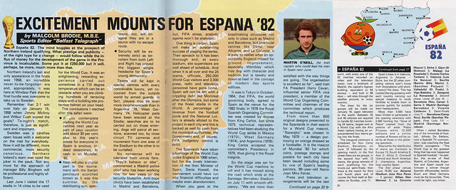 Excitement Mounts for Espana 82 - Malcolm Brodie Article