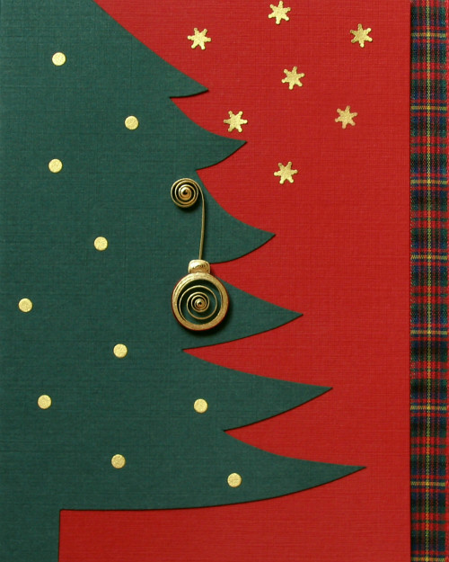 Unique Christmas Card with Quilled Ornament