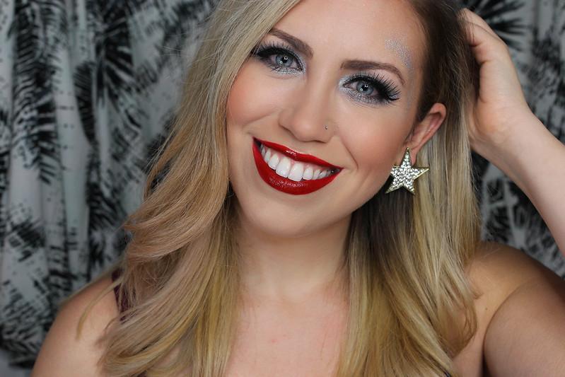 Crazy Festive Glitter Holiday Makeup Star Earrings
