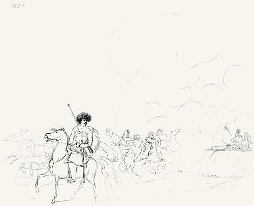 Иллюстрация к повести А.А. Бестужева-Марлинского «Аммалат-Бек». 1832-1834
