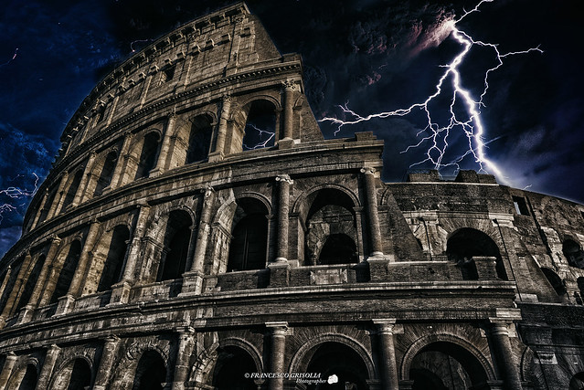 Thunderstorm to the Colosseo