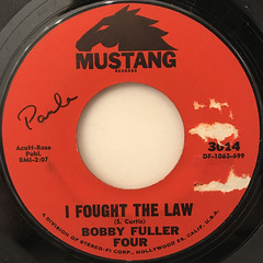 BOBBY FULLER FOUR:I FOUGHT THE LAW(LABEL SIDE-A)