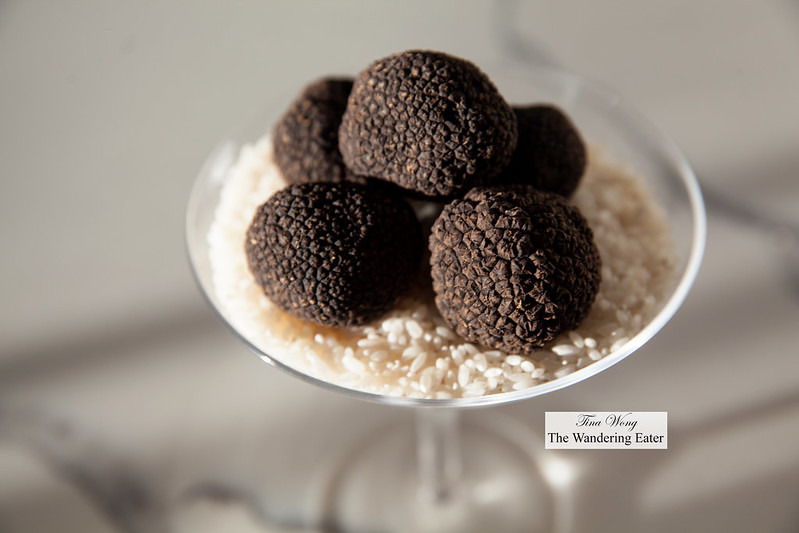 Fresh whole Perigord black truffles