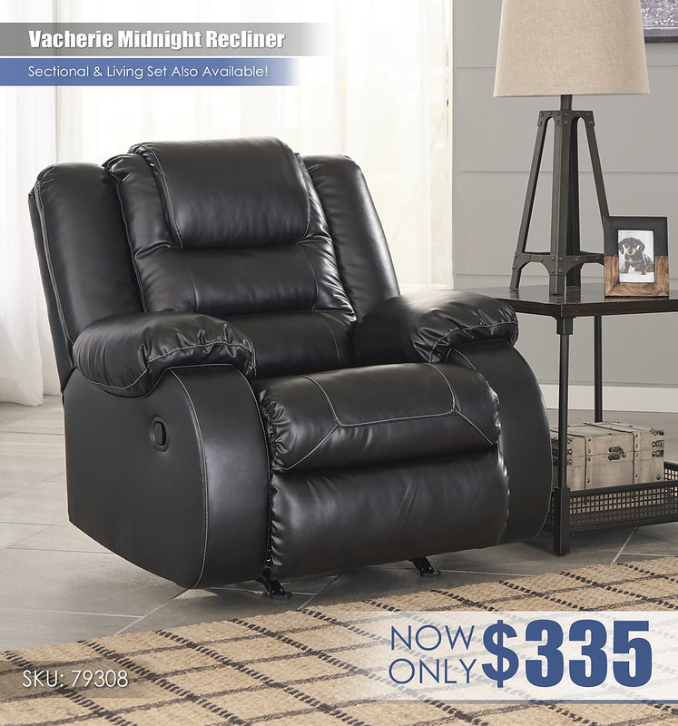 Vacherie Midnight Recliner_79308-25