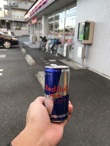 横浜を過ぎたところで休憩。翼を授かる