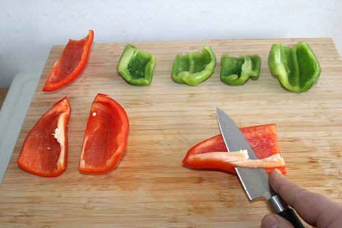 25 - Paprika entkernen / Decore bell pepper